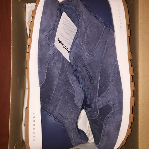 0f0cef4e79c NAVY BLUE REEBOK CLASSIC LEATHER SG Size 9 Brand New with - Depop