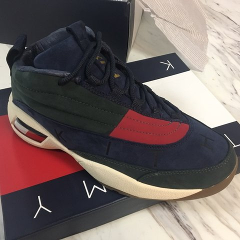 78f80ab05 KITH X TOMMY HILFIGER LUX BASKETBALL SNEAKER FOREST   ship - Depop