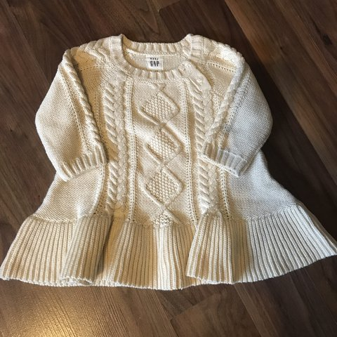 f7e0a5a81afe Baby girls gap cable knit dress - 3-6 months - excellent - - Depop