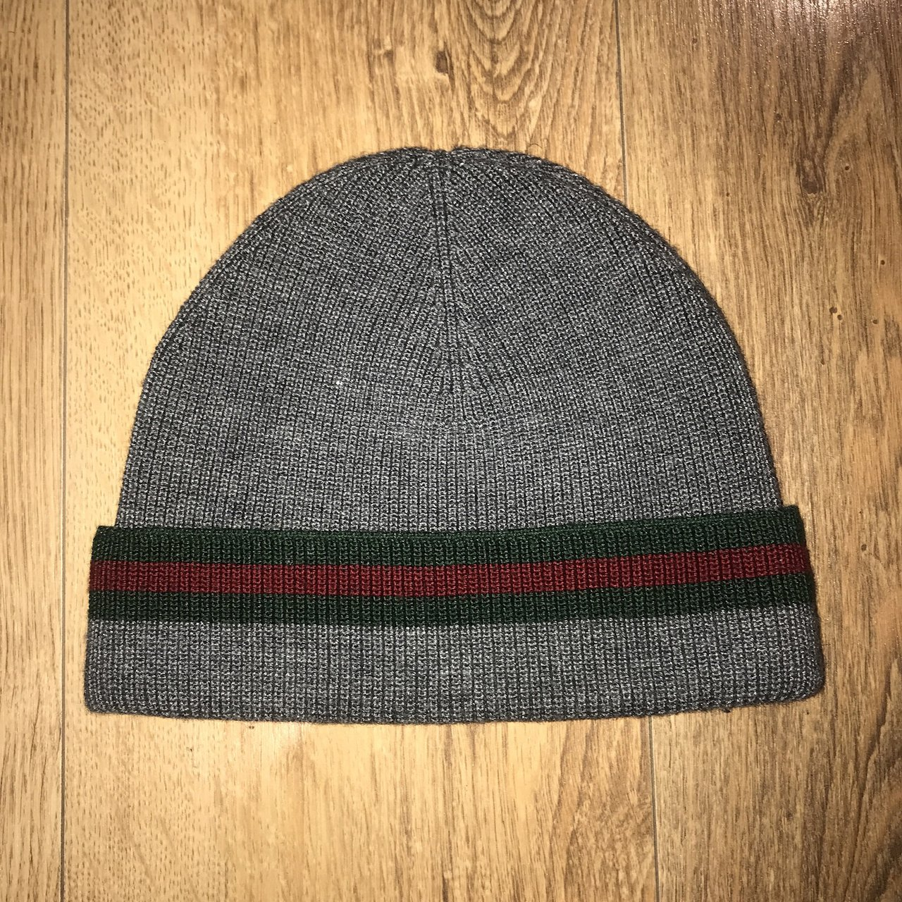 Grey  Gucci Beanie. Brand new and never worn. Signature for - Depop c4091d54e99