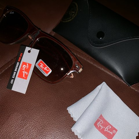 b63e5b9735 Ray Ban Lei Peng in brown sunglasses. Purchased for me by my - Depop