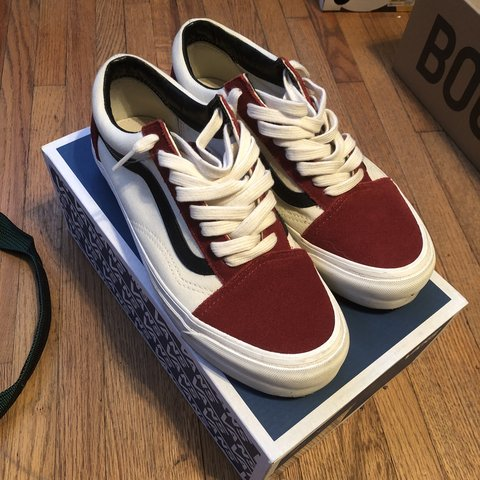 385ed3b867f60c Size. 7.5 Vans Old Skool Red Dahlia Condition 9 10 just and - Depop