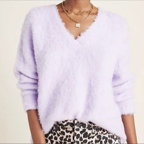Anthropologie Simone Sweater Lilac Purple