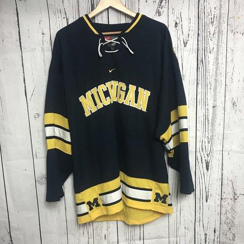 8f1f1ec0b @calidreamin. 9 months ago. Glendale, United States. Men's University of Michigan  Hockey Jersey.