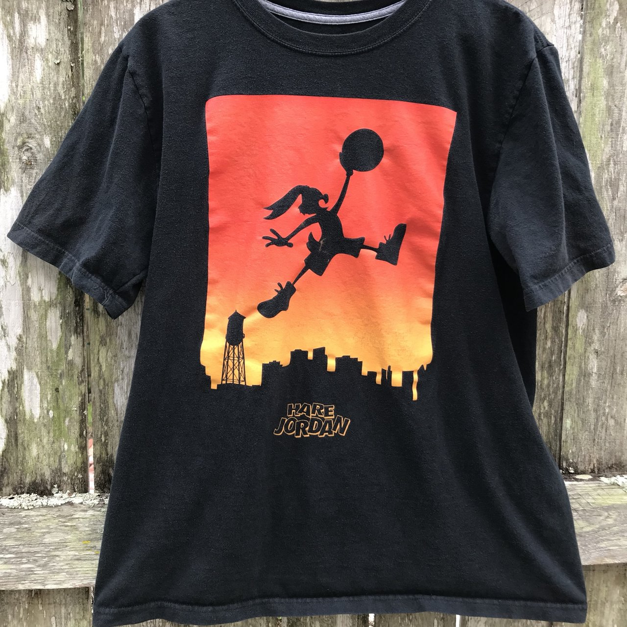 03b01d871b4 Retro Hare Jordan T-shirt Faded from age but no holes or - Depop