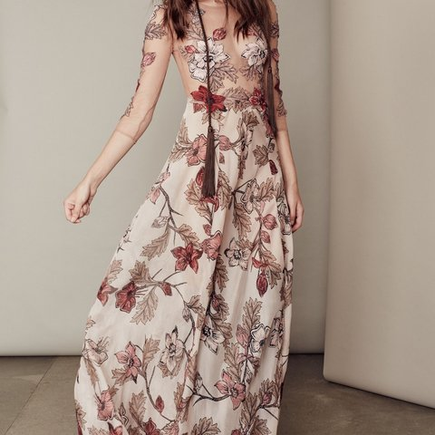7f984b1123f For Love   Lemons Sierra Maxi dress in blush floral
