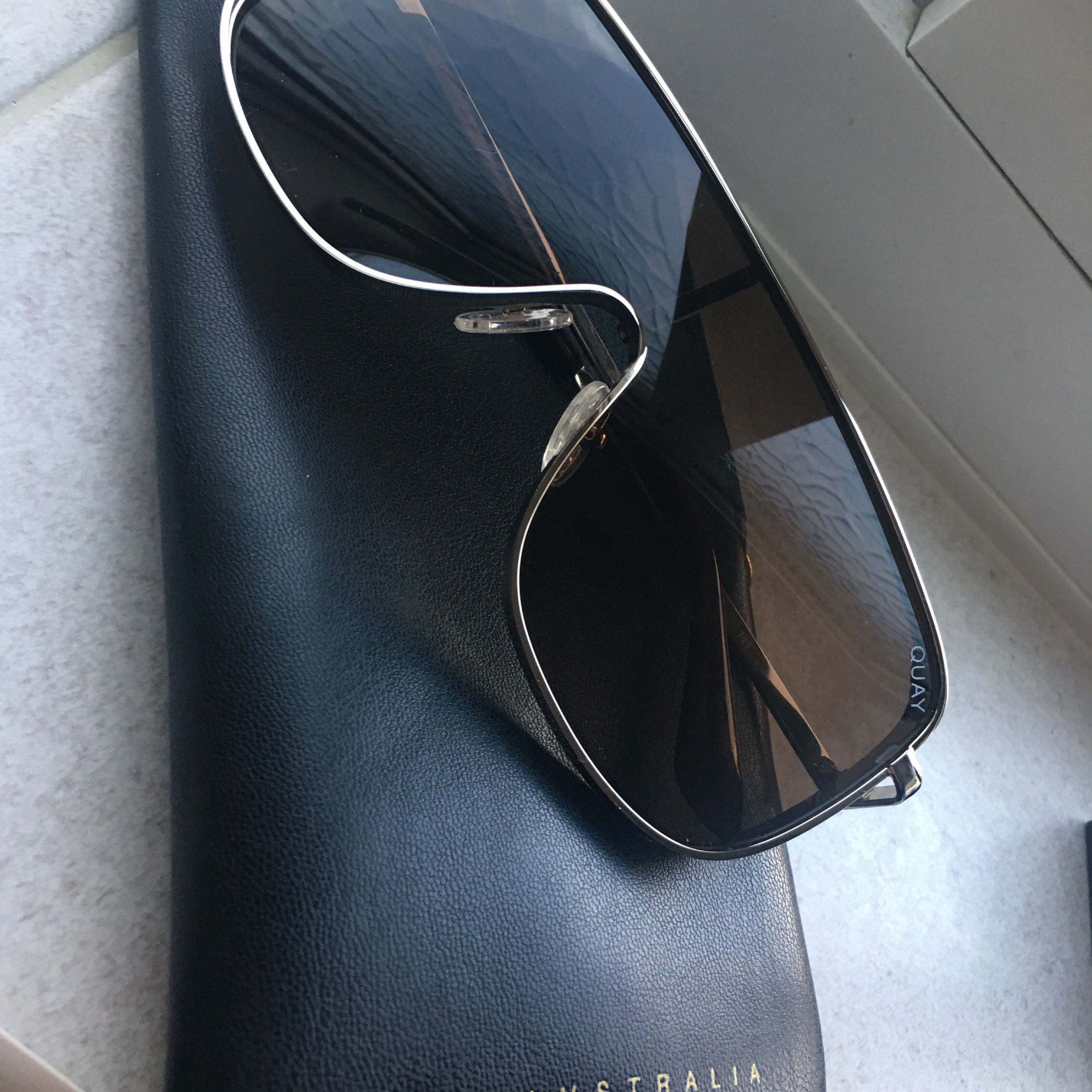 2310c2e7d6 Kylie Jenner x QUAY Unbothered Sunglasses + Pouch Brand  - Depop