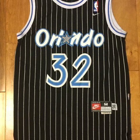 e4e086a9689 Vintage Orlando Magic Throwback Shaquille O Neal Jersey Size - Depop