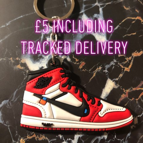 size 40 67331 5e748  georgiah caitlin. 5 hours ago. London, United Kingdom. 🔌🚨EXCLUSIVE  KEYRING🚨🔌 👟 Off White X Nike Air Jordan 1👟