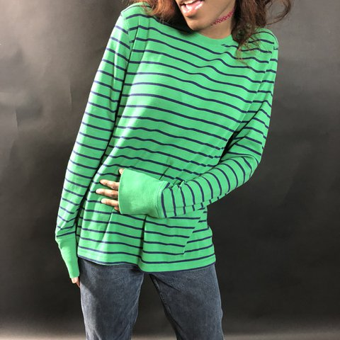 Oversized Blues Clues Steve Long Sleeve Striped Lol Depop