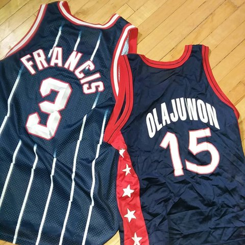 9f180d29a Steve Francis Houston Rockets and US Olympic jersey Hakeem - Depop