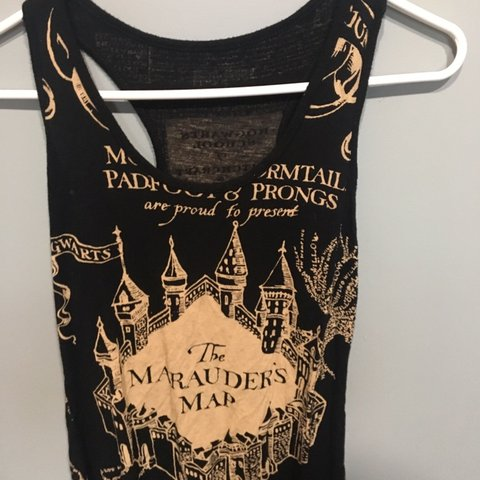 d0b9af109381f harry potter mauraders map muscle tee. bought from hot topic - Depop