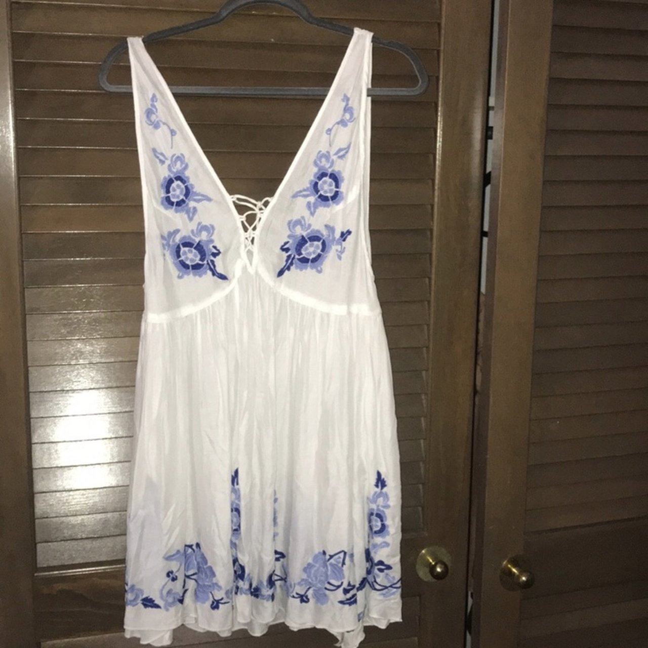 6bcf0ca131 Free people white embroidered sundress- 0