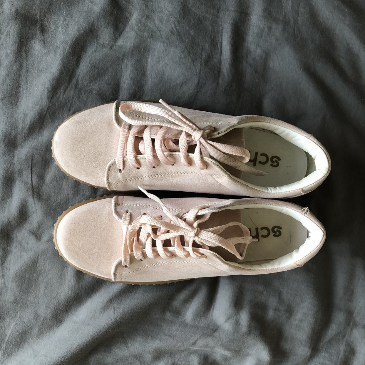 super popular 64294 2a4e0 baby pink trainers💓☁️ schuh size 6 worn once perfect ...