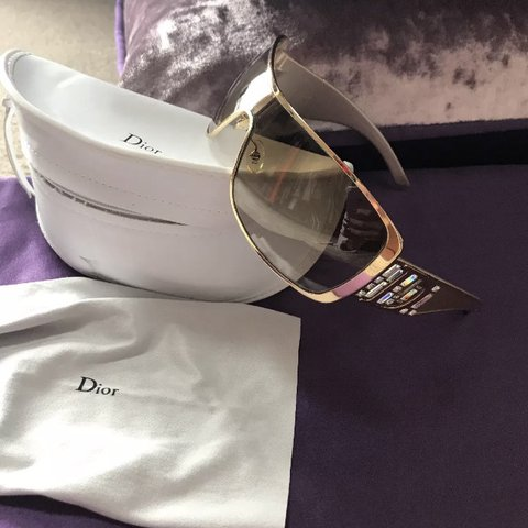 58d0f2bed4 Dior Sunglasses with gold metal accents   adorned with high - Depop