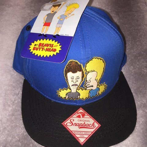 Item  Men s Vintage MTV Beavis And Butthead Snapback Hat a - Depop 89f5a09e6aa