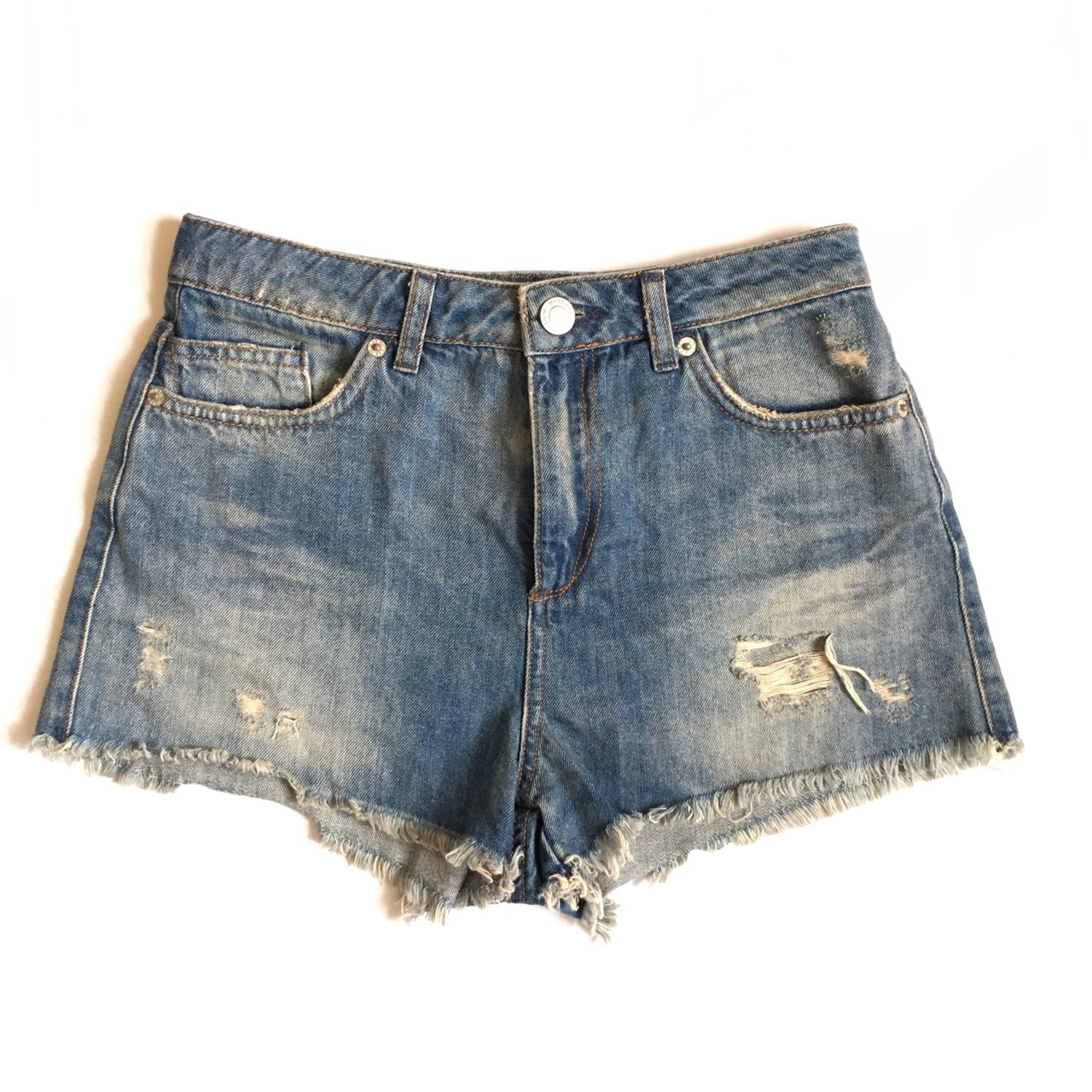 711b02c41c @nottinghillcloset. 36 minutes ago. London, United Kingdom. TOPSHOP Moto  Tall W28 High Waisted Blue Ripped Denim Jean Shorts Festival Summer