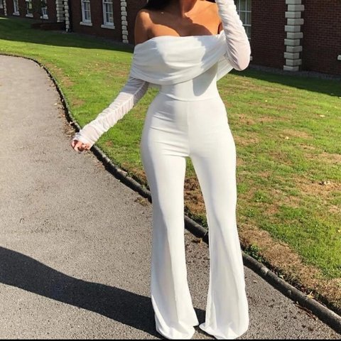 5a32626a5e Jumpsuit comes in white and black Bralette Sequin mesh - Depop