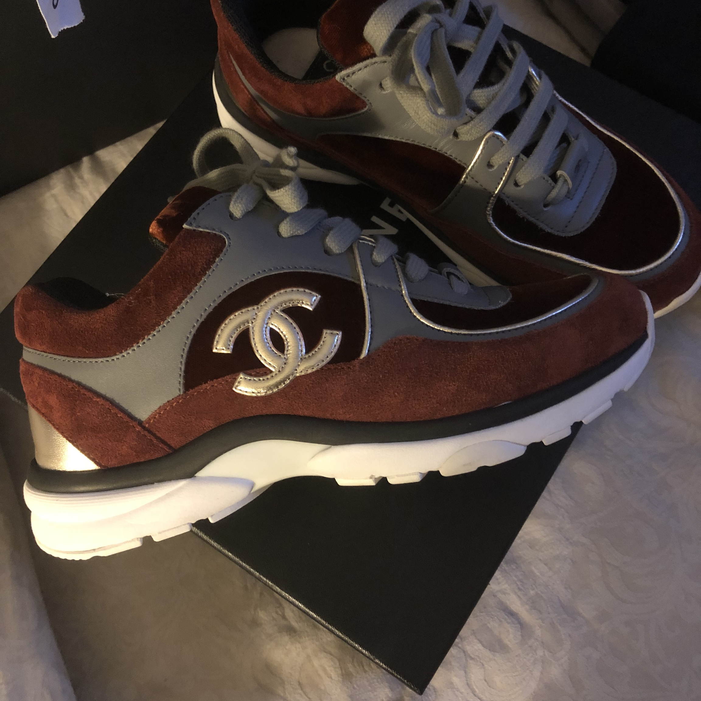 100% Authetic CHANEL Sneakers. In a