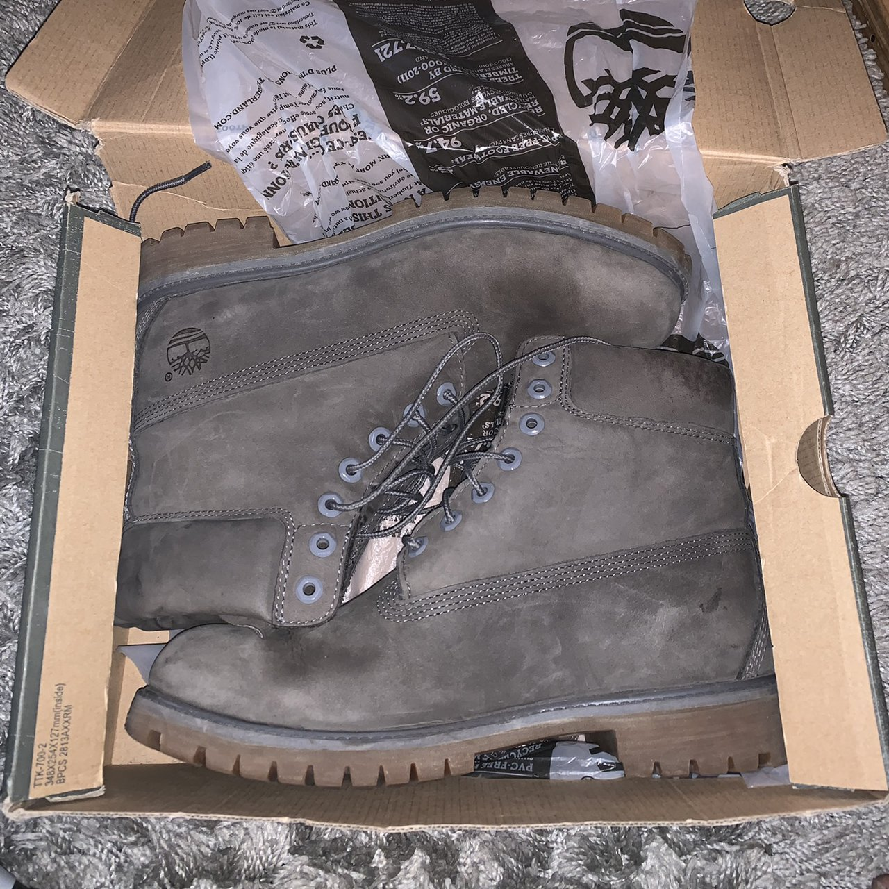 Men's grey timberland boot 9.5 does fit