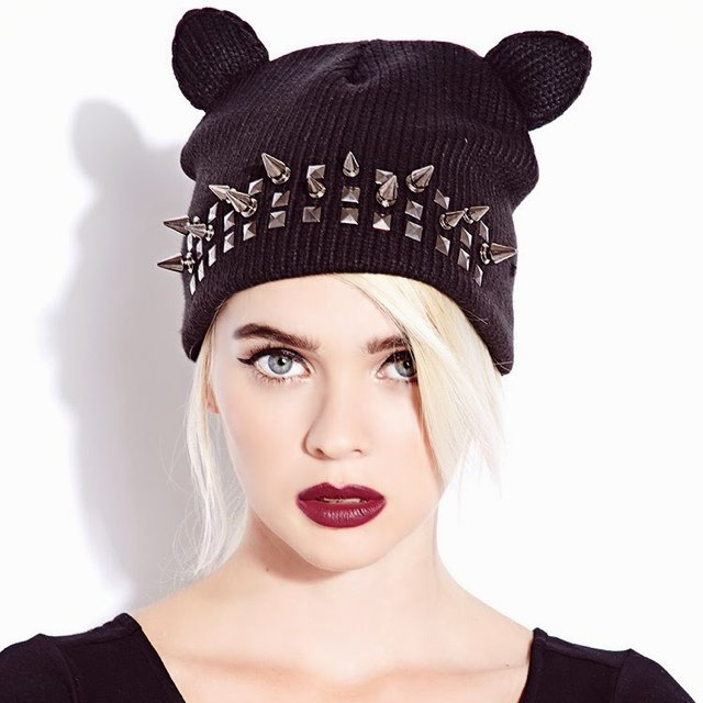 Spiked  Cat ear  beanie from  Forever21  09e2220dc66a