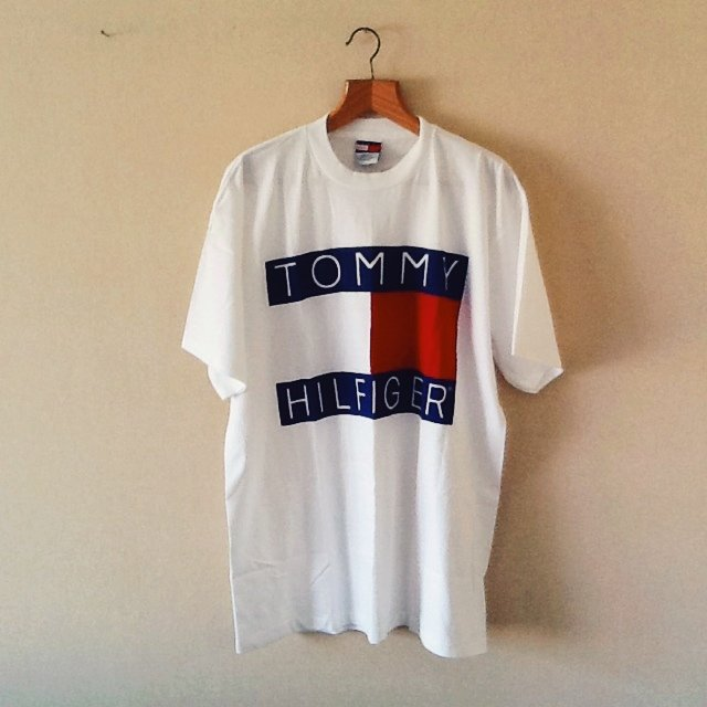 retro tommy hilfiger t shirt tee top vintage size xl. Black Bedroom Furniture Sets. Home Design Ideas