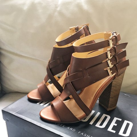 07daa94cc8d Missguided heeled gladiator sandals in UK size 3 or EU 36. a - Depop