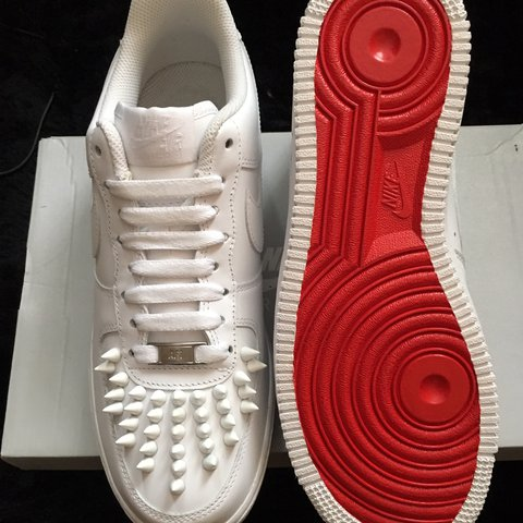 sale retailer 5bee8 5e309  eric199. last year. Wembley, United Kingdom. Nike Air Force 1 white  red  bottoms ...