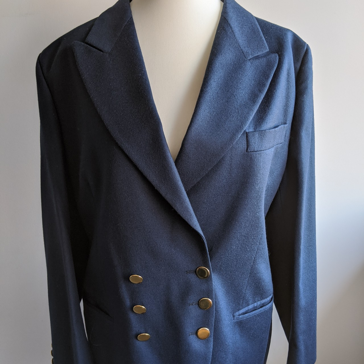 Vintage Austin Reed Blue Double Breast Blazer Jacket Depop