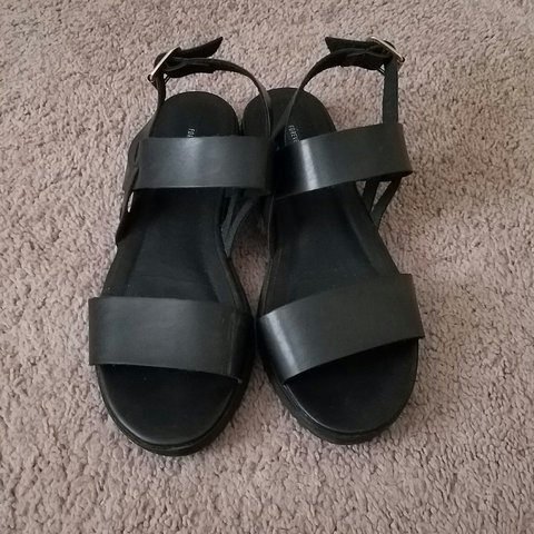 0f3d402624d8 Forever 21 black strappy sandals. Size 9. Worn once