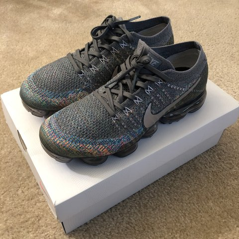 5321cf8799e68 Air Vapormax Flyknit Grey Multi-Color 849558-019 100% only - Depop