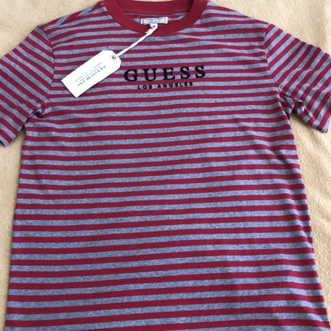 0539f8251672 Robertson striped tee XS Oversized fit New with tags! Guess - Depop