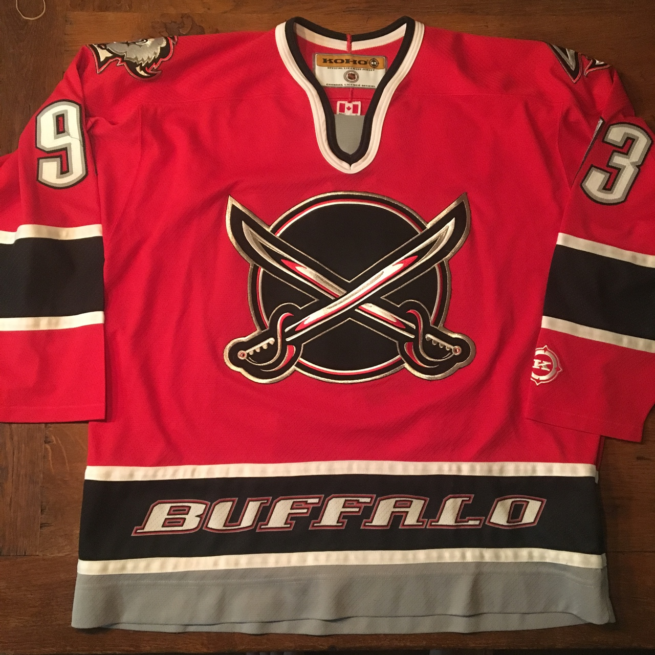 "uk availability 0ae2a ccf88 Buffalo Sabres ""Doug Gilmour"" Alternate Jersey. The... - Depop"