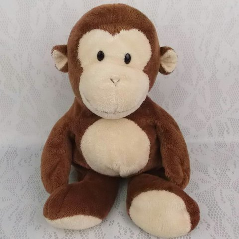 Ty Pluffies Brown Dangles Monkey Plush Stuffed Animal Soft Depop