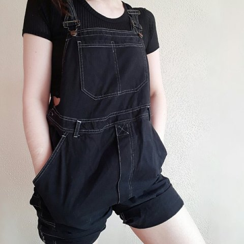 68e47f72bea61 @katiemoose. 2 months ago. Manchester, GB. Retro/vintage black maternity  dungarees.