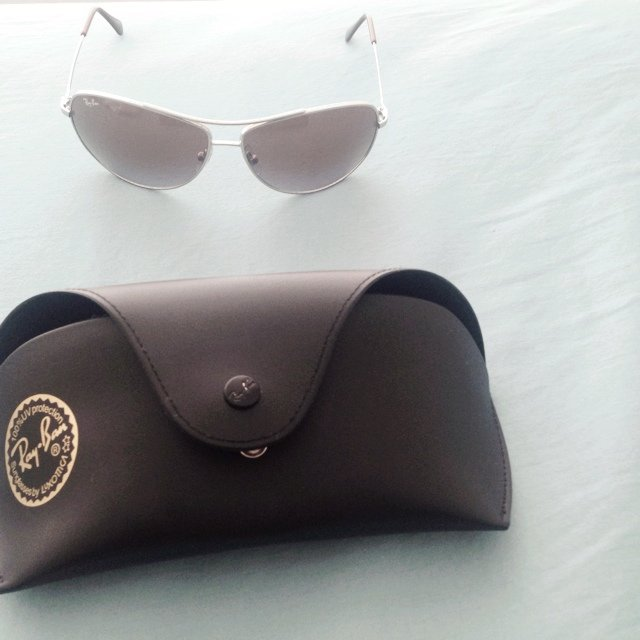 317dac7775 Ray-Ban wrap around aviator sunglasses - Depop