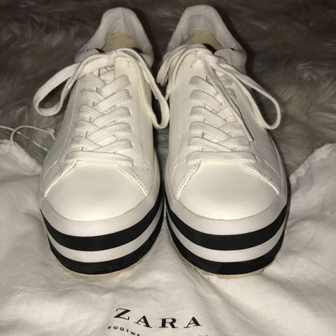 625721b671 Platform sneakers from Zara. Size 38 European/7 worn 1-2 - Depop