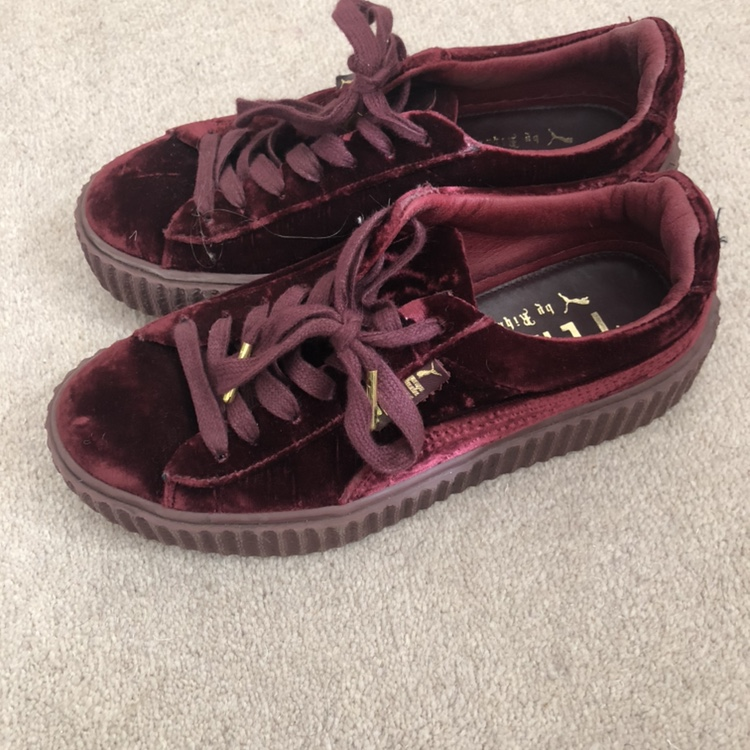 on sale ca565 b380c Fenty Puma suede Rihanna velvet creepers in purple... - Depop