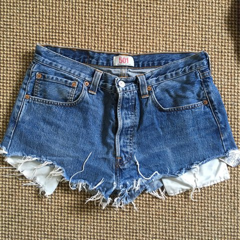 d41cfddd235623 @poppybgriff. 11 months ago. Redruth, United Kingdom. Levis Denim shorts. Levi's  501 Denim Blue shorts daisy dukes