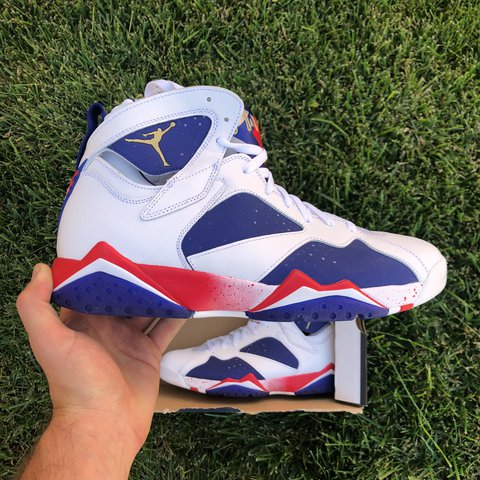 a9f64f46ce66 Nike Air Jordan Retro 7 Olympic Alternate Tinker 304775-123 - Depop