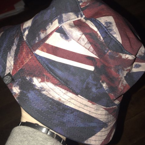 f665fa18047 Pretty green reversible union jack bucket hat Bought about 2 - Depop