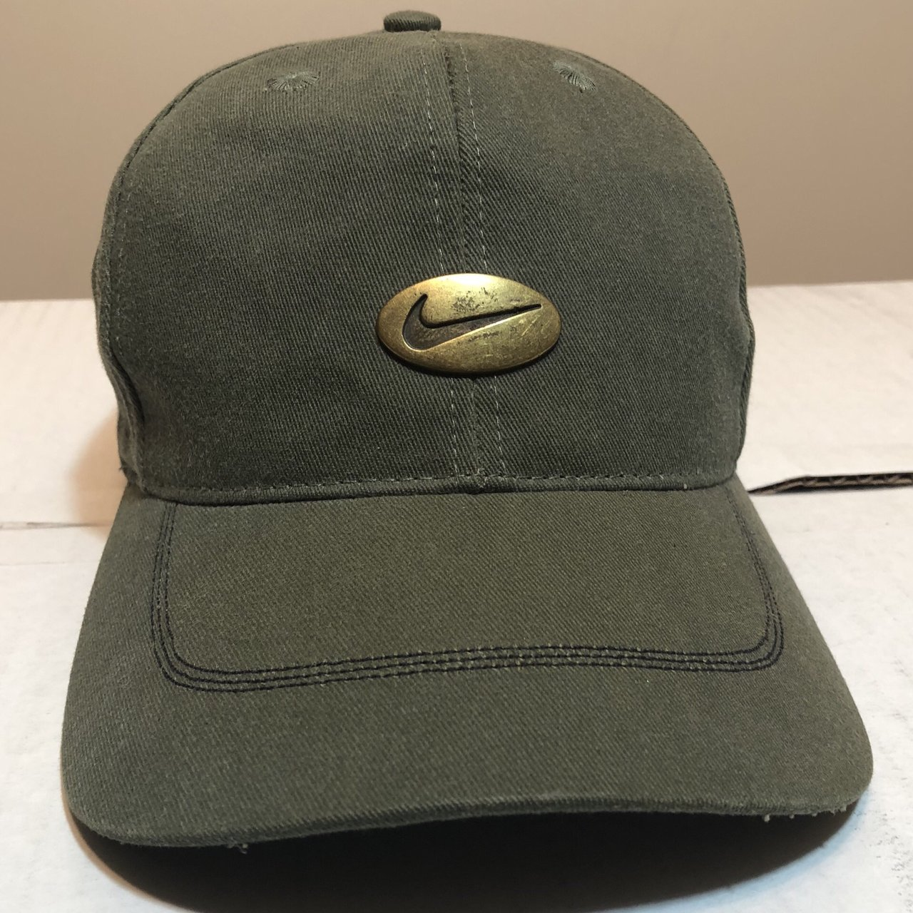 051e85ed39 Vintage 90s Nike dad hat olive green Condition  super good - Depop