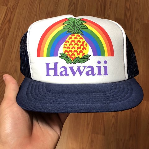 Vintage Hawaii hat Some light staining pictured 71fdaa57e607