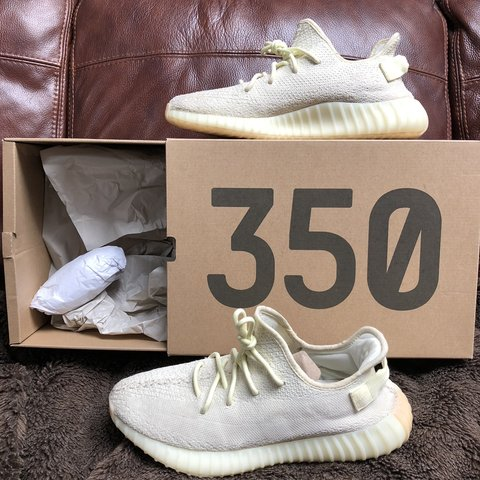3b8e200b6acf8 ️BELOW RETAIL TODAY ONLY⁉ Yeezy 350 V2 Butter Size  Shown - Depop