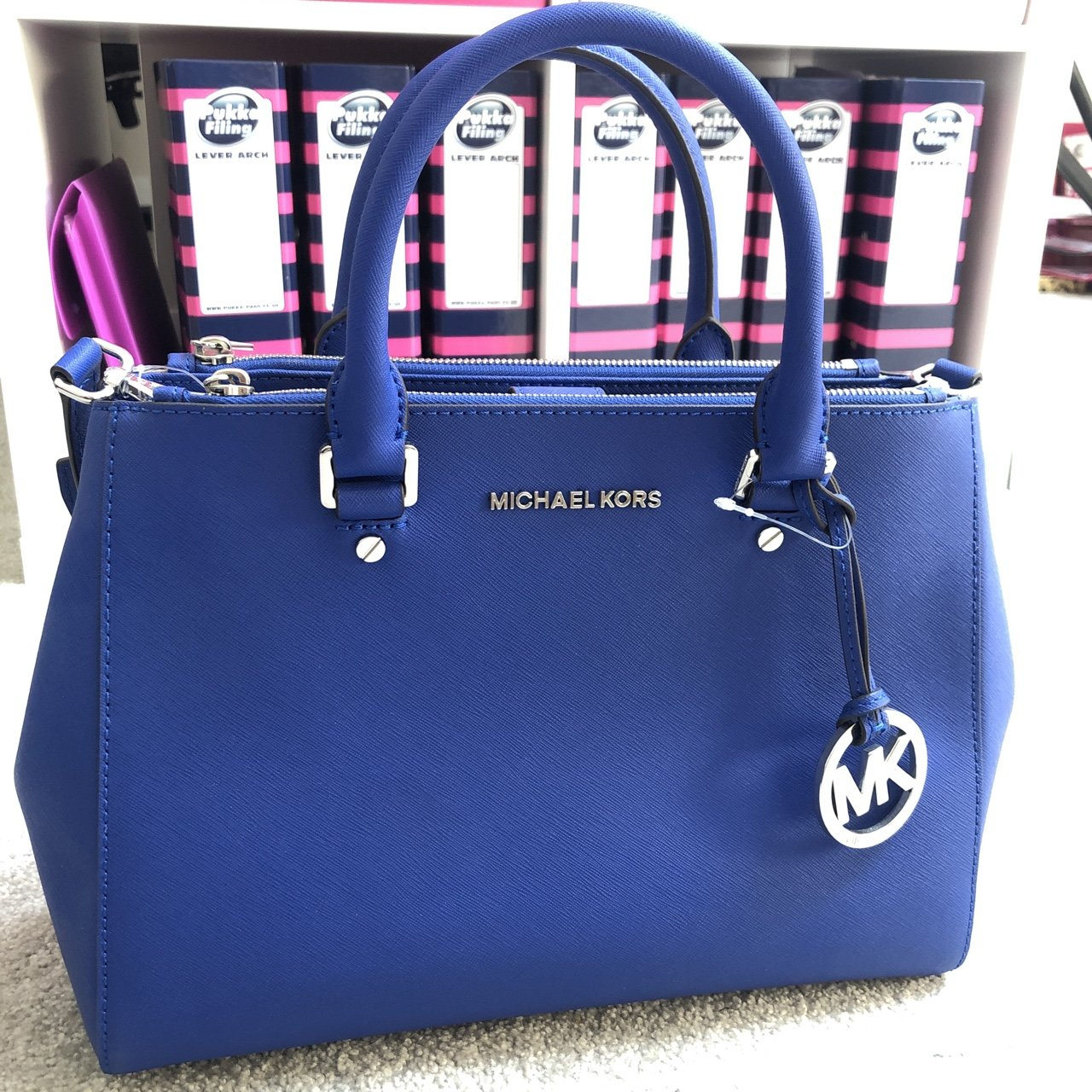 f8def93f6722 Blue Michael Kors Bag in Perfect Condition