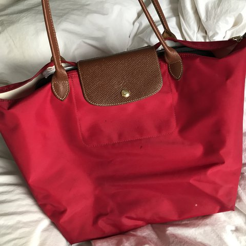 5c867f5232a Longchamp Le Pliage Large tote in Red Garance - bright