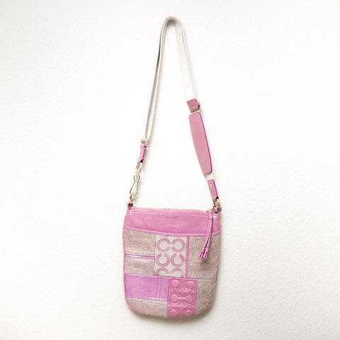 97ceab011e @kristytran. last year. Houston, United States. Small Pink Vintage Coach  Shoulder/Crossbody purse.