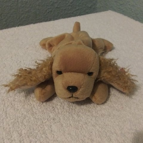 98fcb0b94dd Spunky the Dog Ty Beanie baby original. 1997. Retired. Heart - Depop
