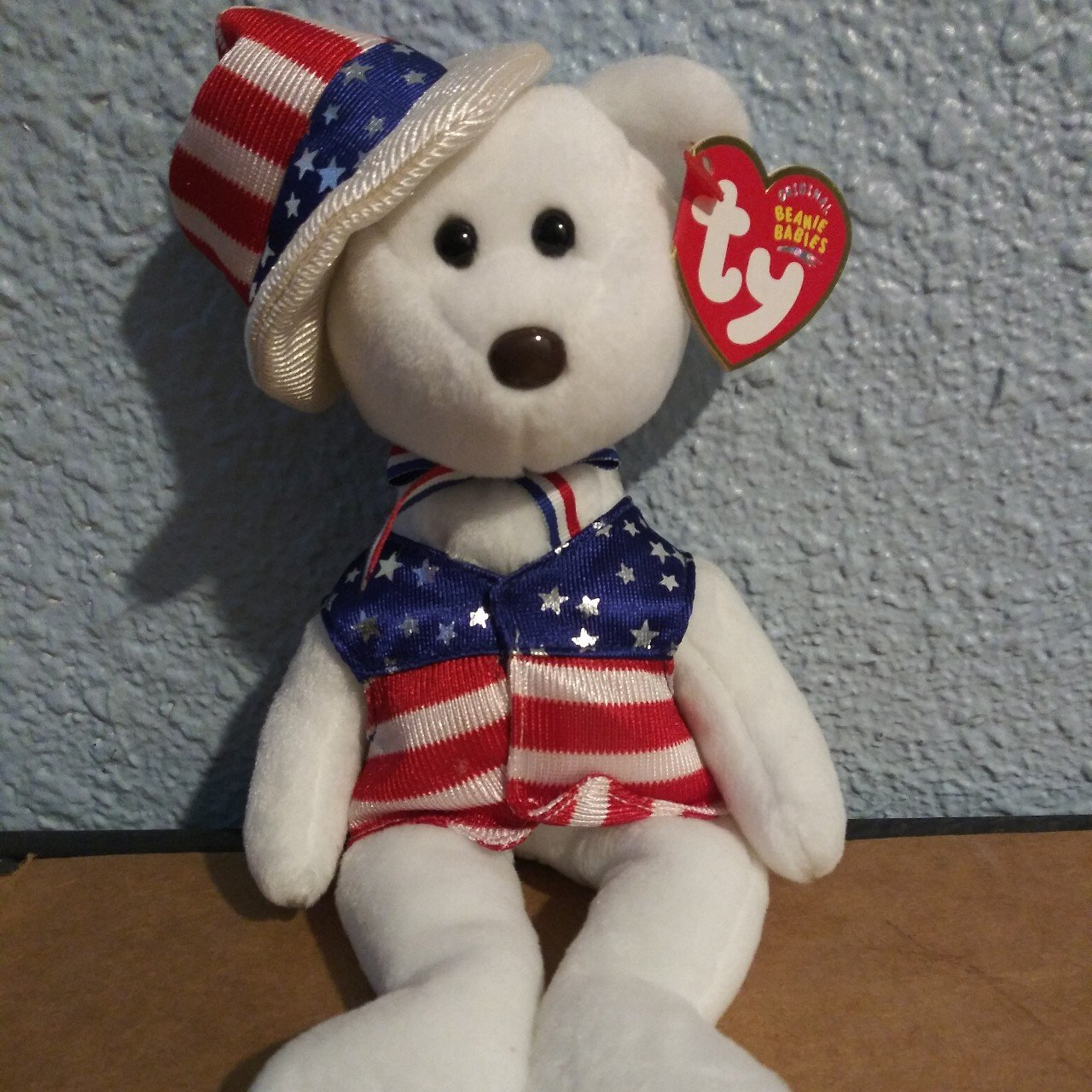 Sam the Bear Ty beanie baby original. 2003. Another rare In - Depop 1502d16efd6