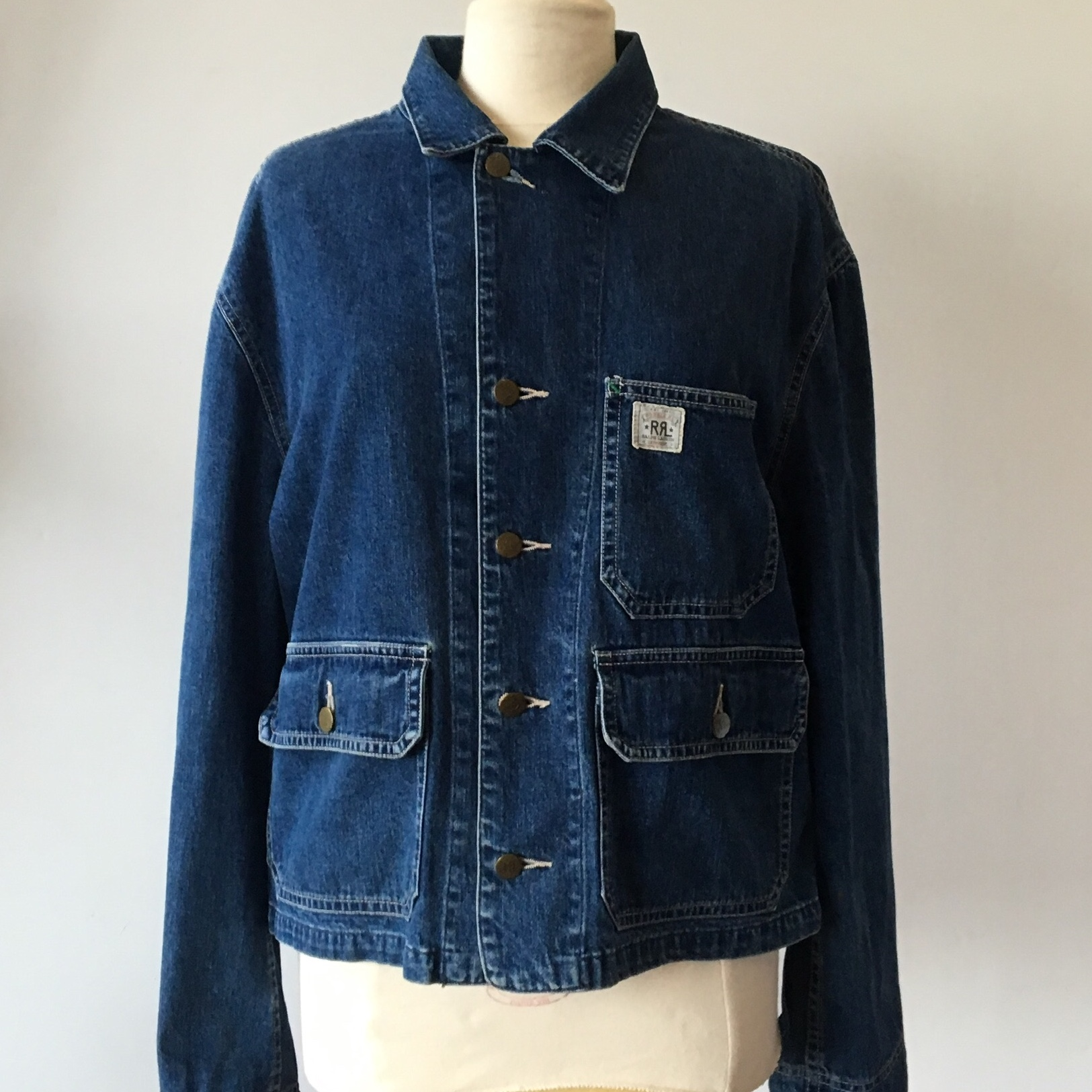 838784c6d RRL Cropped Chore Denim Jacket. Used condition, some... - Depop